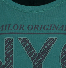 Tom Tailor T-Shirt plat[deep teal green] 10385940010/7509